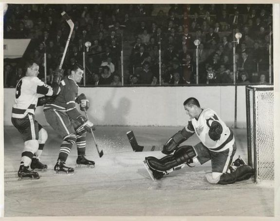 Terry Sawchuk of the Detroit Red Wings.