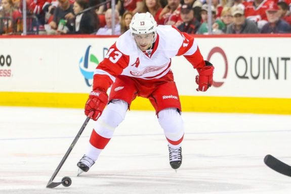 Pavel Datsyuk of the Detroit Red Wings.