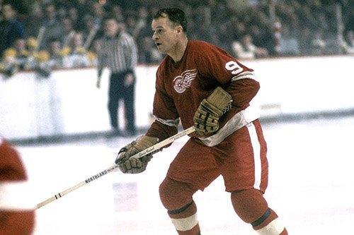 Gordie Howe of the Detroit Red Wings.