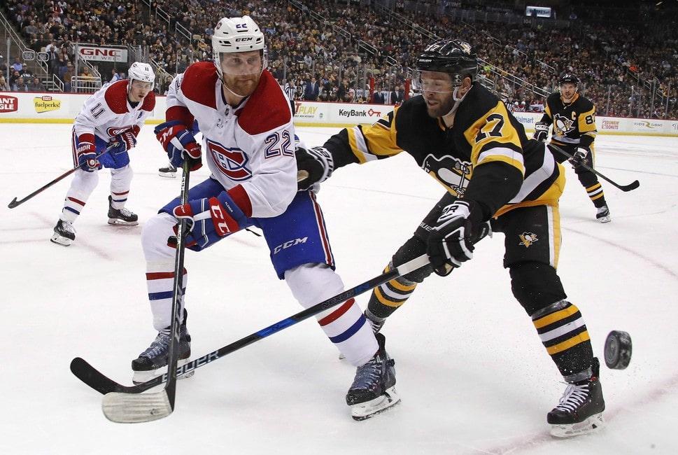 Pingüinos Bryan Rust Canadiens Karl Alzner