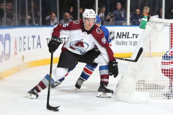 Mikko Rantanen #96 of the Colorado Avalanche