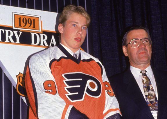 Peter Forsberg Philadelphia Flyers 1991 NHL Entry Draft
