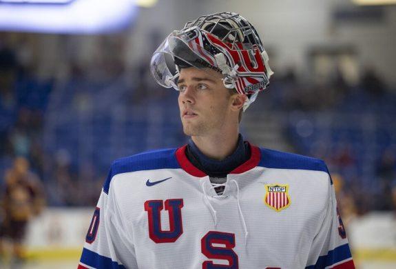 USA goaltender Spencer Knight