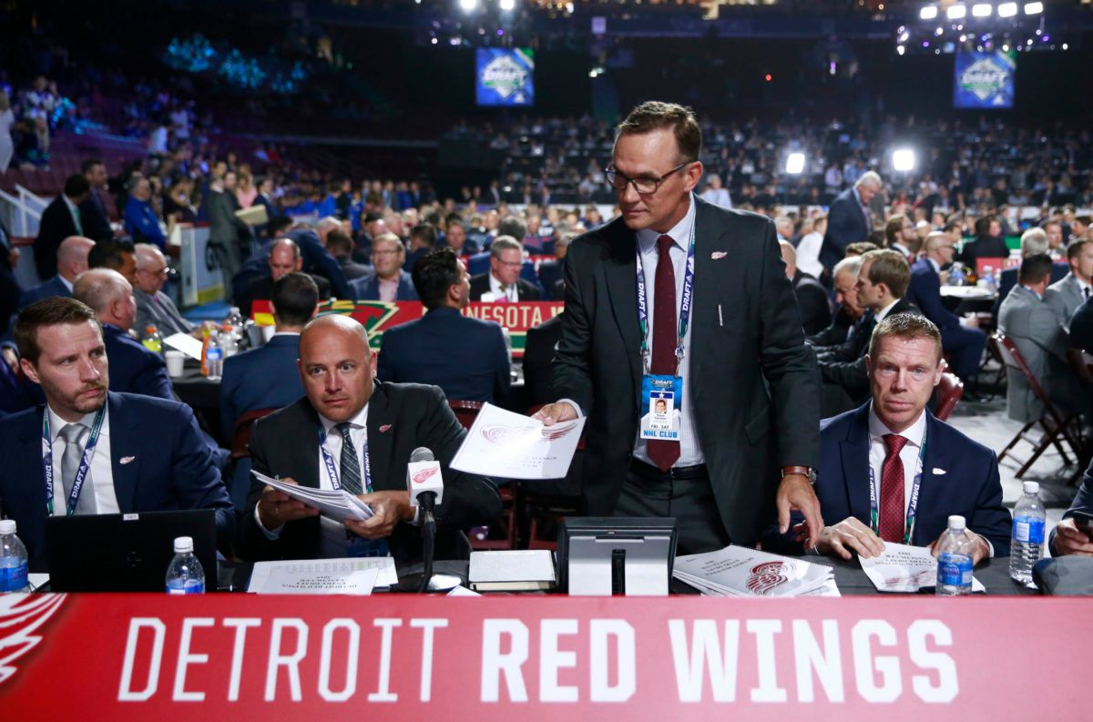 Tyler Wright Steve Yzerman Kris Draper Detroit Red Wings