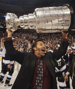 Will John Tortorella get to do this in Vancouver? (AP photo/Chris O'Meara)