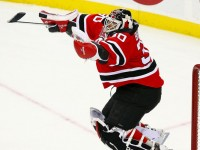 Martin Brodeur jumps up for joy anytime there is a Devils mailbag. (File Photo)