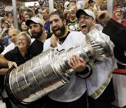 Talbot with The Stanley Cup