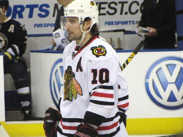 Patrick Sharp: After Barker Trade, He's Safe for Now (Pam Rodriguez/THW)