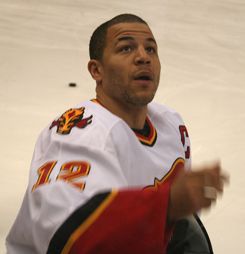 Jarome Iginla looks forward to representing Canada in Vancouver after scoring 6 goals and 13 points in his last 10 games (Stu Switzer/Flickr).