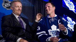 Maple Leafs captain Dion Phaneuf leads the league in plus/minus (Darren Calabrese/The Canadian Press)