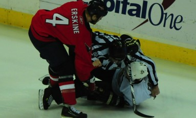 Capitals Defensemen John Erskine Will Sit For Three