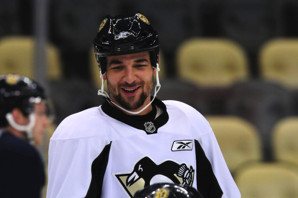 Deryk Engelland should be spending more time in front of the Penguins net (Tom Turk/THW)