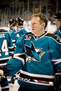 Claude Lemieux as a member of the San Jose Sharks (Jill Goodell/Flickr)