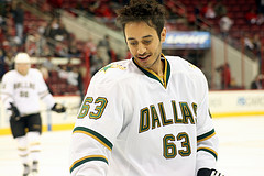 Ribeiro was all smiles in a 3-point, +3 night for the Stars Monday (Photo by Wendy Bullard).