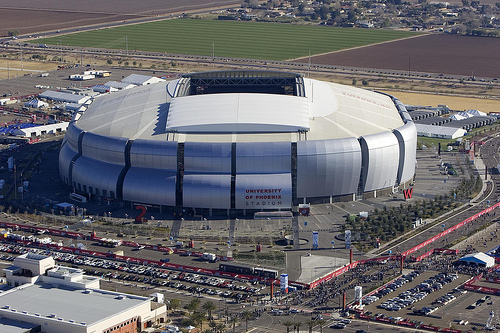 University of Phoenix Stadium, Site of the Fiesta Bowl (Greatdegree/Flickr)