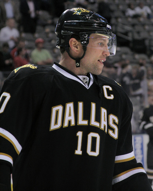 Morrow was the Stars' captain at the time he was traded (HermanVonPetri/Flickr)