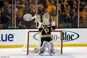 Tim Thomas should be taking more credit and less heat for having the Bruins where they are. (Photo by Chassen Ikiri).