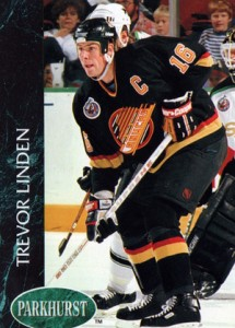 Trevor Linden - Canuck captain hockey card