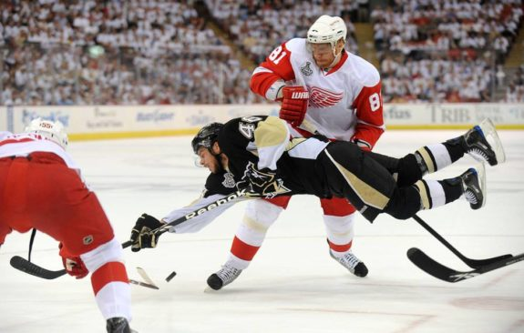 Tyler Kennedy Pittsburgh Penguins Marian Hossa Detroit Red Wings