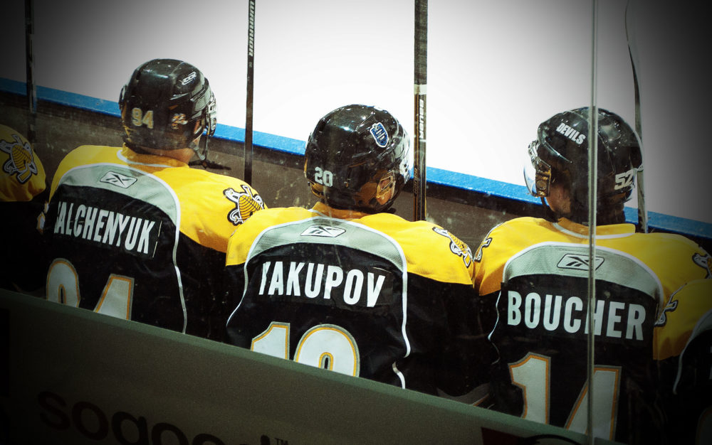 Galchenyuk, Yakupov and Boucher will form one of the OHL's top lines (Photo Courtesy of Brendan Ross/The Scouting Bureau)