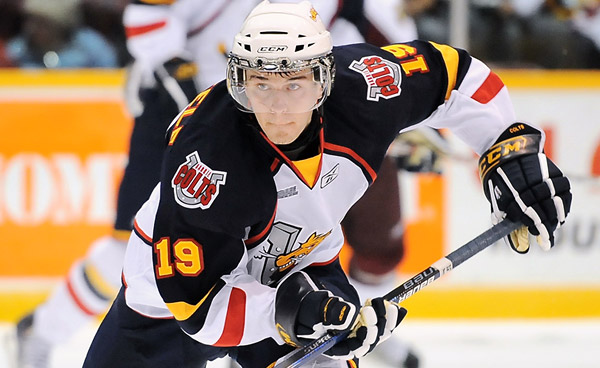 Mark Scheifele is centering the Jets' second line and is showing just why he was a top-ten pick in 2011. (OHL Images)
