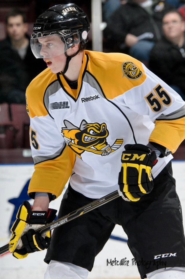 Connor Murphy (Phoenix Coyote 2011 1st round pick) made his OHL debut this past Friday (Metcalfe Photography)