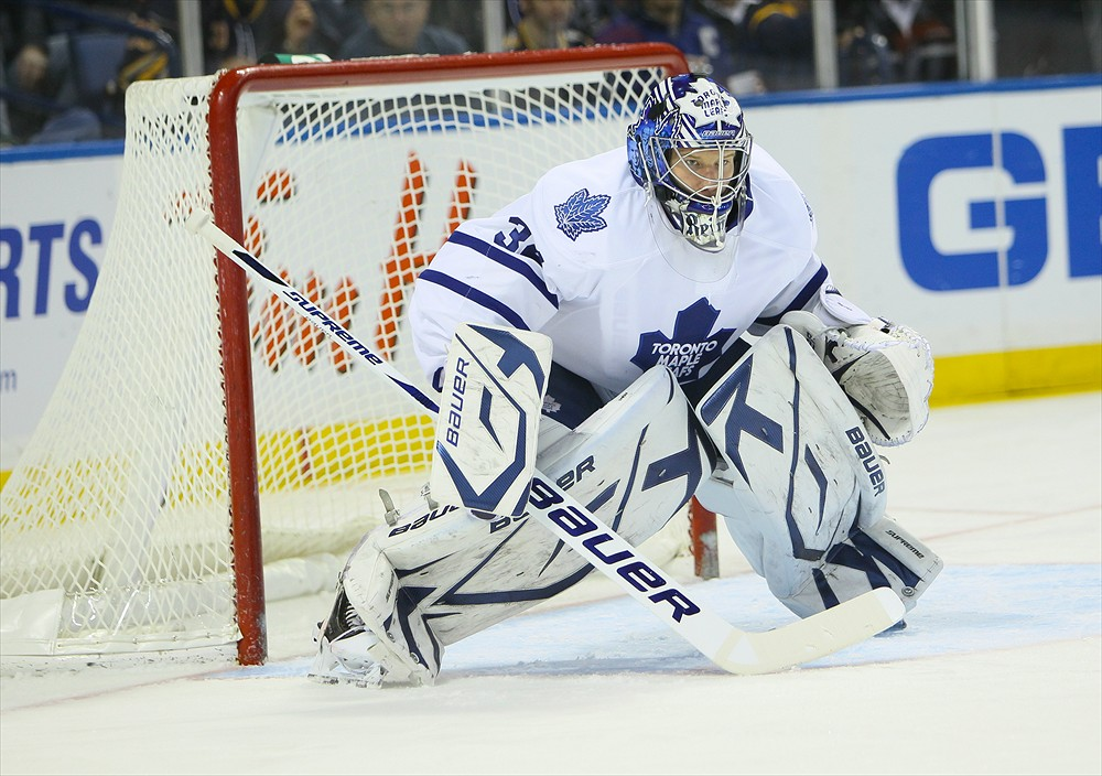 James Reimer is having a strong season for the Maple Leafs (Jerome Davis/Icon SMI)