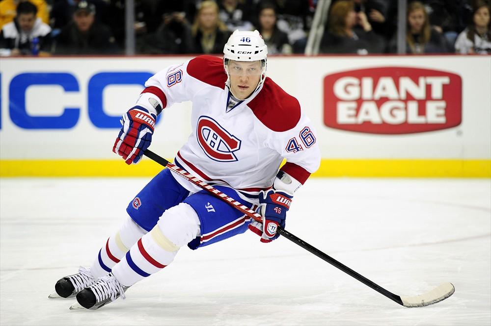 Former Montreal Canadiens Forward Andrei Kostitsyn (Jeanine Leech/Icon SMI)