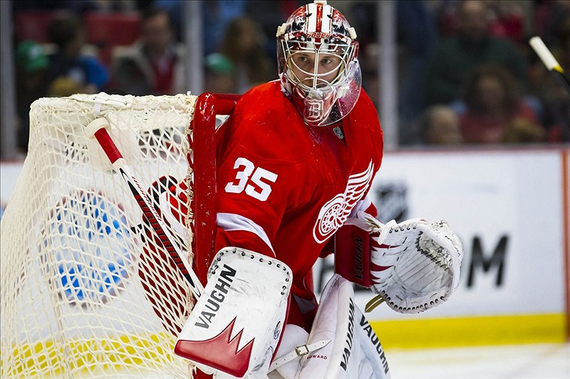 Jimmy Howard struggling (Rick Osentoski-US PRESSWIRE)