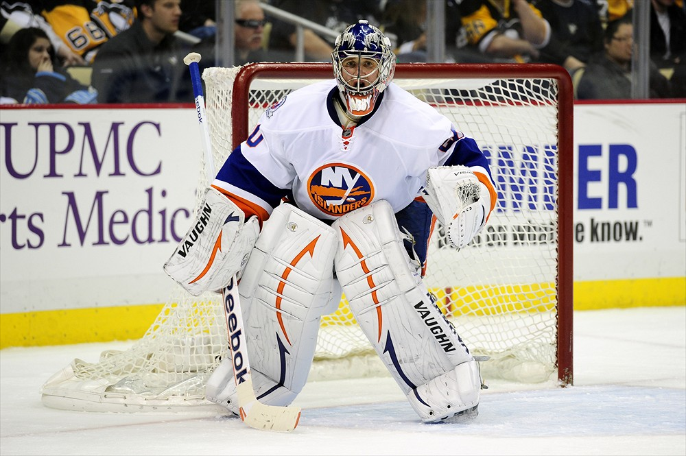Evgeni Nabokov has been an influential force for the Islanders over the last few years and could be an option for the Islanders' back-up slot. (Jeanine Leech/Icon SMI)