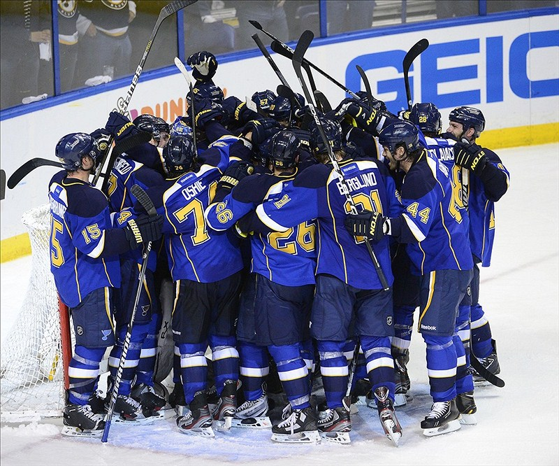 The St. Louis Blues are the 2nd team in the NHL to advance to the 2nd round  (Scott Rovak-US PRESSWIRE)