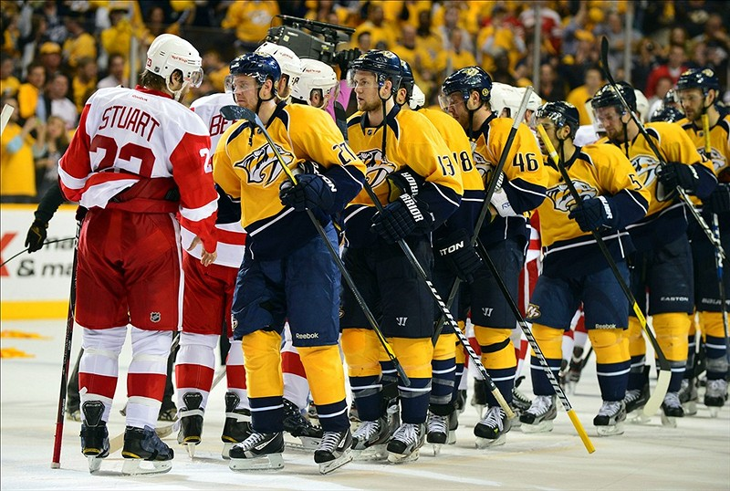 Red Wings Eliminated (Don McPeak-US PRESSWIRE)