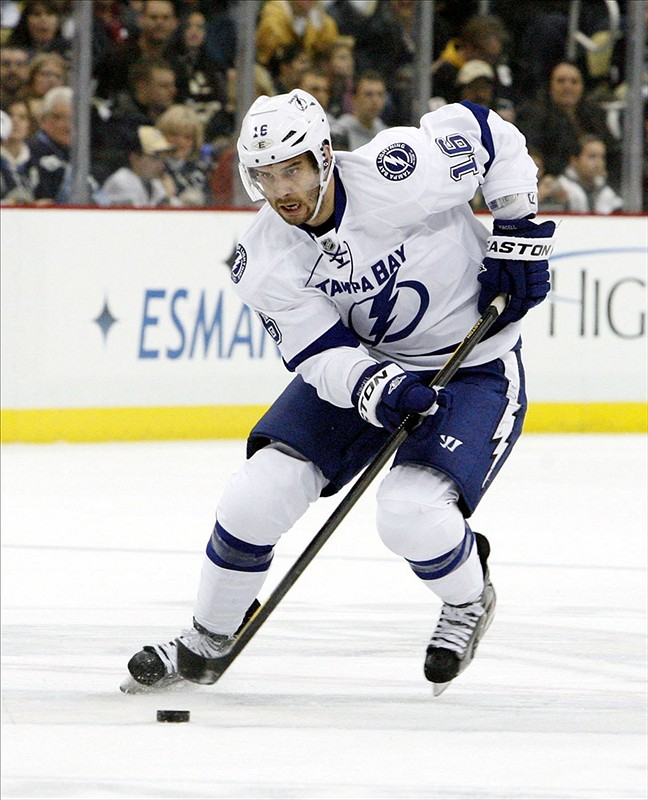 Teddy Purcell is one of three Lightning players heading to the world championships. (Charles LeClaire-USPRESSWIRE)