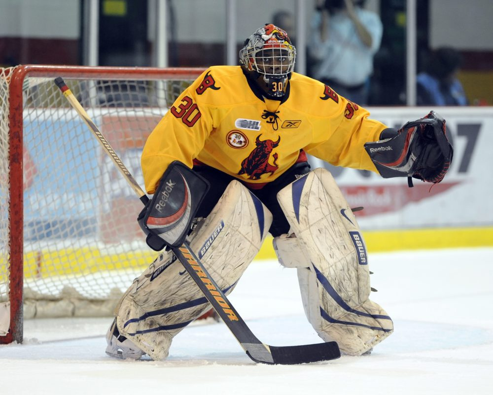 Will Malcolm Subban be Canada's starting WJC goaltender? (Aaron Bell/OHL Images)