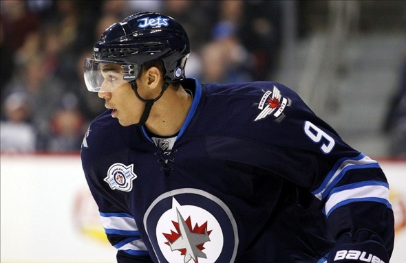 Evander Kane Jets hockey player