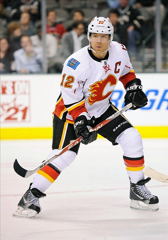 Jarome Iginla is no longer a Calgary Flame. (Jerome Miron-US PRESSWIRE)