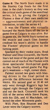 Game 6 Flames 1981 Writeup