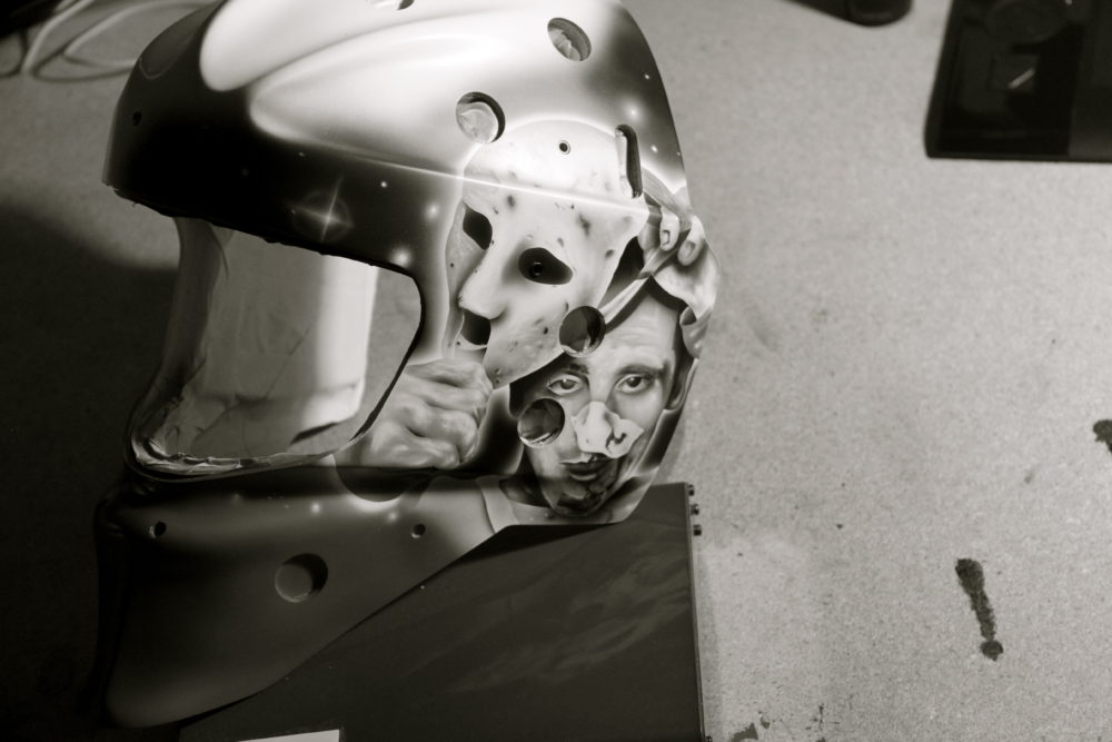 """Ghosts of the Forum"" mask by Andrew Manning. [courtesy: Air Trix Studios]"