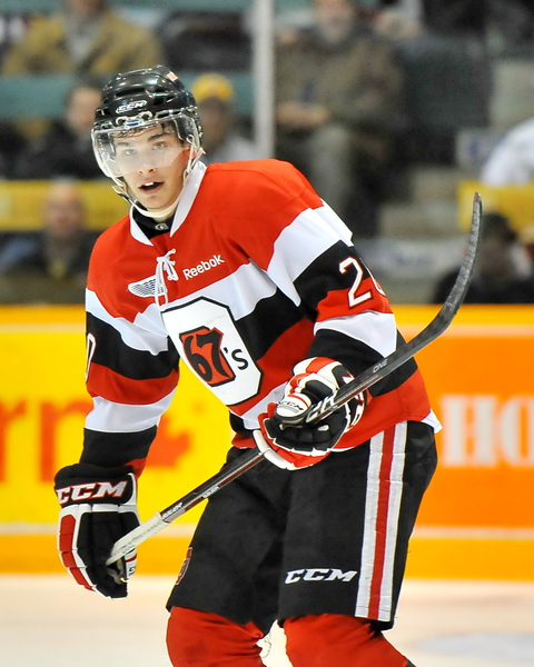 The OHL's top prospect for the 2013 NHL Entry Draft, Sean Monahan could build upon a 2011-12 season in which he finished 16th in OHL scoring.  Monahan will surely be a catalyst on the attack in Ottawa again this year and a 100-point season is surely not unlikely.  (OHL Images)