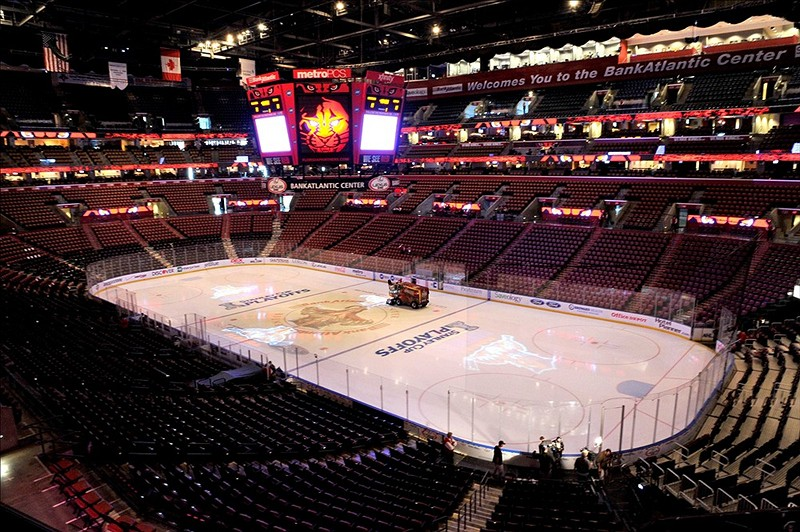 Florida Panthers' BB&T Center on a quest to be filled in light of the team's attendance woes. (Brad Barr-US PRESSWIRE)