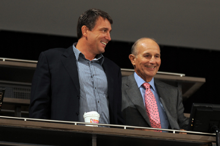 Bruins owner Jeremy Jacobs (right) [cr: Delaware North PR]