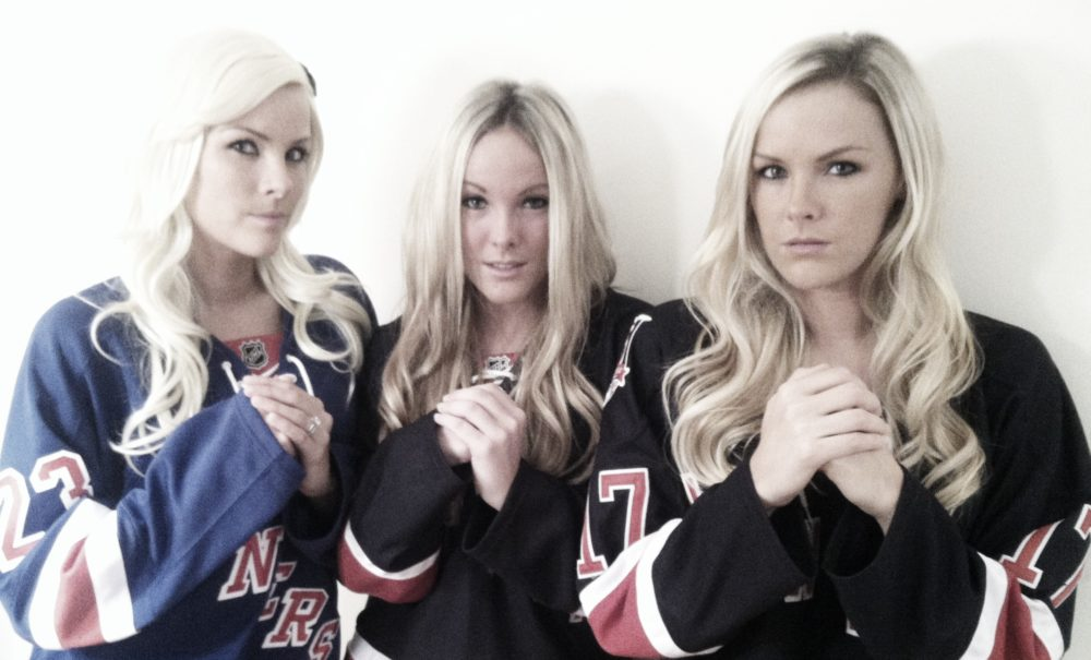 Three Hot Swedes in Hockey Jerseys