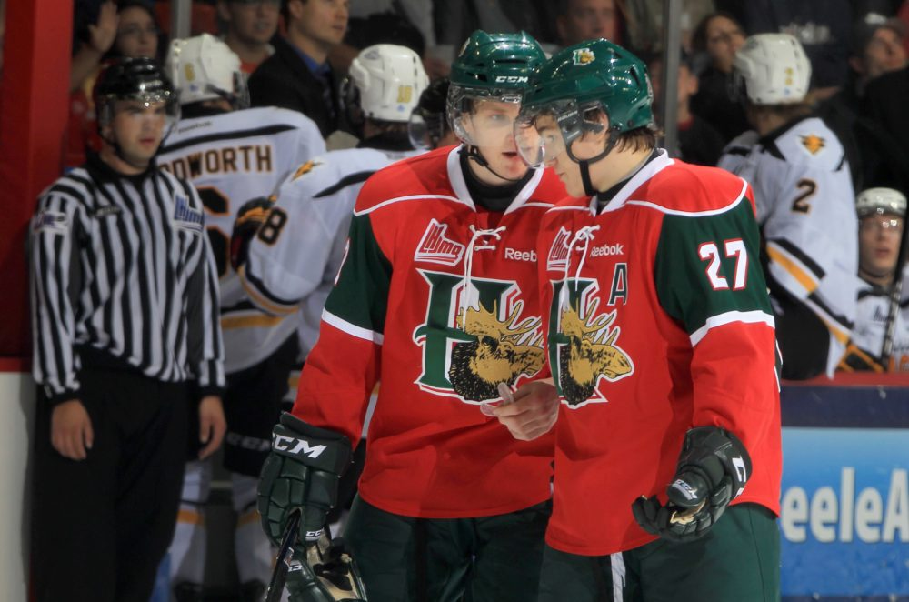 Nathan MacKinnon and Jonathan Drouin: the Halifax Mooseheads dynamic duo. (Mike Dembeck)
