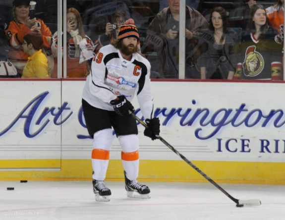 Scott Hartnell at Operation Hat Trick