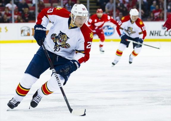 Florida Panthers: Sean Bergenheim Practices Monday,Not Cleared to Play
