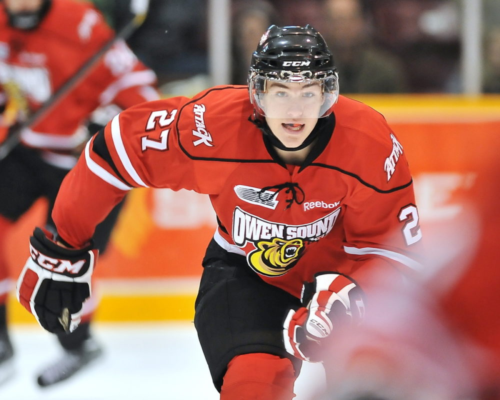 Owen Sound Attack power forward Zach Nastasiuk is an intriguing prospect for the 2013 NHL entry draft (OHL Images)