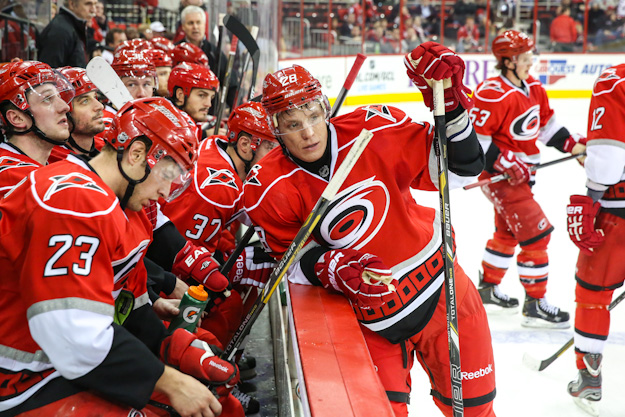 Carolina Hurricane Alexander Semin - Mandatory Photo Credit: Andy Martin Jr