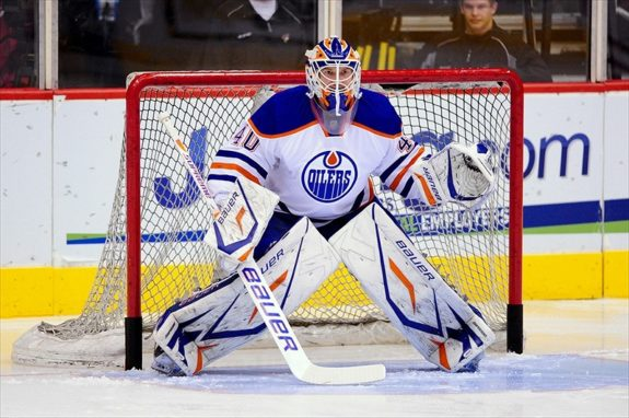 Devan Dubnyk is quickly becoming another important part of the Oilers' future (Matt Kartozian-USA TODAY Sports)