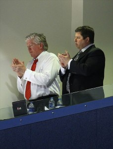 Brian Burke and David Nonis (Tom Szczerbowski-USA TODAY Sports)