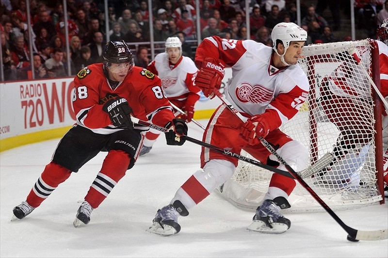 Jonathan Ericsson, Patrick Kane, Red Wings, Blackhawks